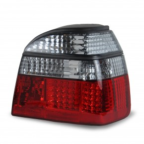 Rear light set, LED, VW Golf 3 91-97, red/smoked, not for right hand drive!