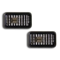 Seitenblinkleuchten, kristall / schwarz passend für Golf Bj. -8/92, Polo Bj. -94, Audi, Porsche