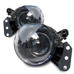 Nebelscheinwerfer Klarglas mit Projektor Linse passend für BMW E60 Limousine und E61 Touring Baujahr 2003-2007