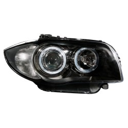 AE-Design Headlights with halogen rings and luminous range control suitable for  BMW 1 series E87 and E81 year 04-