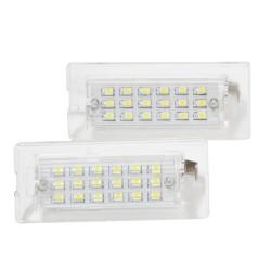 LED Kennzeichenbeleuchtung, 18 SMD-LED, mit E-Zeichen, 2 Stück
