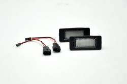 LED Kennzeichenbeleuchtung, 2 St., 3 SMD, mit E-Prüfzeichen passend für 1er Serie E82, E88 / 3er Serie E90, E90N, E91, E92, E93 M3, E46 CSL / 5er Serie E39, E60, E60N, E61,E61N /  X Serie E70, E71