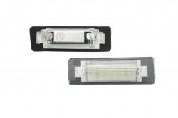 LED Kennzeichen Beleuchtung, Power-LEDs, inkl. E-Prüfzeichen passend für Mercedes-Benz W210 4D Limo, W202 4D Limo Facelift(97-00)