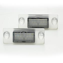 LED Kennzeichen Beleuchtung, Power-LEDs, inkl. E-Prüfzeichen passend für Audi A5 B5 Avant 1995-11.2000 / A3 8L 96-03 / S4 B5 Avant 96-03 / AS/S3 Sportback 97-03 / A4/S4 Avant 95-99