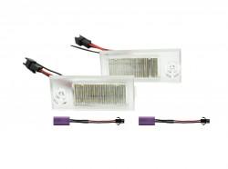 LED Kennzeichen Beleuchtung, Power-LEDs, inkl. E-Prüfzeichen passend für Audi A6 4B/C5 Limo 97-04