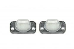 LED Kennzeichen Beleuchtung, Power-LEDs, inkl. E-Prüfzeichen passend für VW T4 90-03, Transporter syncro 1993-2004, Transporter (TR) 91-04, CAMPMOB. (TYP2/TRANSP./LT) [CAMP] 91-03, Passat B5 Limousine 01-05, Passat B6 Combi/Variant 06-08, Caddy 04-, Jetta