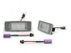 LED Kennzeichen Beleuchtung, Power-LEDs, inkl. E-Prüfzeichen passend für Opel Astra J Bj. 10-, Zafira C Bj- 12