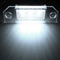 Licence plate LEDs, 2 pces 3 SMD, Ford Focus 2 04-08, E-marked