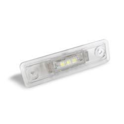 LED Kennzeichenbeleuchtung, 2 St. 3 Power-LED, inkl. E-Zeichen passend für Opel Astra F Caravan 91-98/ Astra G Stufenheck (F69) 98-05/ Corsa B 93-00/ Omega A 86-94 - B 94-03/ Vectra B alle 95-03/ Zafira A 99-05
