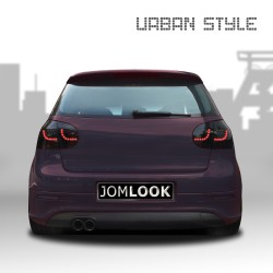 Rear lights, LED, VW Golf 5 03-, Urban style two, black, not for right hand drive!