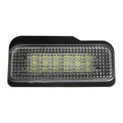 LED Kennzeichenbeleuchtung, 2 St., 3 LED, E-Zeichen, kompatibel mit Bordcomputer passend für Mercedes E-Klasse Limo/Kombi W211 00-07, C-Klasse W203 Kombi 00-07, CLS W219 04-, SLK R171 04-
