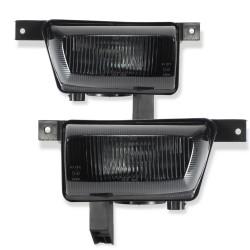 Nebelscheinwerfer.Nebelscheinwerfersatz, inkl. Leuchtmittel, schwarz passend für Opel Astra G, nicht passend bei Cabrio/ Coupe/ OPC