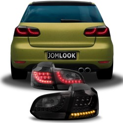 New Design LED rear lights black suitable for VW Golf 6 year 08-12