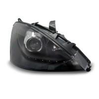 Scheinwerfer Tagfahrlicht Design, Projektorlinse, Klarglas/schwarz, inkl. Blinker, LWR passend für Ford Focus  01-04