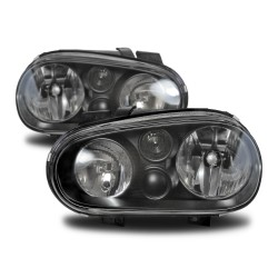 Headlights with built-in indicator and luminous range control suitable for VW Golf 4 year 98-03
