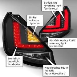 Lightbar Rückleuchten schwarz passend für Ford Fiesta (Typ JA8) ab Bj. 2013
