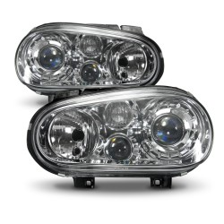 Headlights with fog light, built-in indicator and luminous range control suitable for VW Golf 4 year 98-03