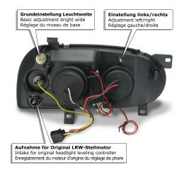 AE-Design Scheinwerfer mit CCFL Ringen und LWR passend für VW Golf 3 Bj. 92-97