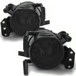 Nebelscheinwerfer Smokeglas passend für 3er Cabrio E46 Bj.00 - 07, 3er Coupe E46 Bj. 00 - 06, 3er E90 Bj. 04 - 11, 3er Touring E91 Bj. 04 - 12, 5er E60 Bj. 01 - 10, 5er Touring E61 Bj. 04 - 10, 6er E63 Bj. 04 - 10, 6 Cabrio E64 Bj. 04- 10,  X3 E83 Bj. 03