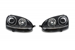 Headlights in sport look suitable for VW Golf 5 1K year 10.03-9.08