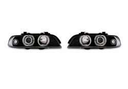AE-Design Scheinwerfer mit LED Ringen passend für BMW 5er E39, Bj. 09.95-8.00