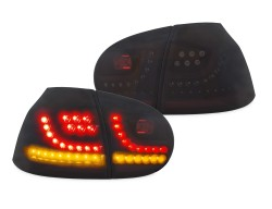 New Design LED rear lights black with dynamic indicator suitable for VW Golf 5 year 03 - 08