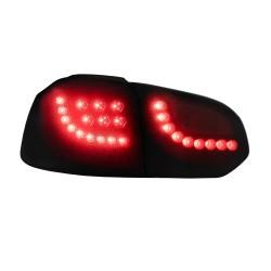 JOM 83173 Feux arrière, compatible avec VW Golf 6 08-12, LED, Nouveau design, noir, dynamique LED clignotant