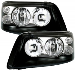 Headlights clear glass chrome, not for right hand drive! suitable for VW T5 (Mulitvan, Caravelle, Bus), 09/03-08/09