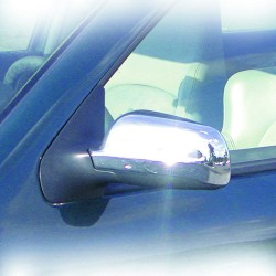 Mirror Covers, chrome suitable for VW Golf 3 Cabrio, Golf 4, Bora, Passat year 1997-, Polo year 1999-, Seat Leon year 1999-, Ibiza, Cordoba and Toledo