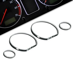 Gauge frames, chrome suitable for VW Golf 3 and Vento