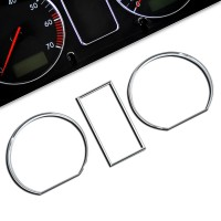 Tacho Chromringe, 3-teilig passend für VW Golf 2