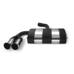 Stainless steel rear Exhaust box with 2x 76mm tailpipes DTM-Look suitable for VW Golf 5 and Golf 5 Plus