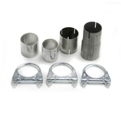 Stainless steel rear Exhaust box with 1x 90mm tailpipes straight suitable for Ford Focus 1 DAW / DBW year 99-04
