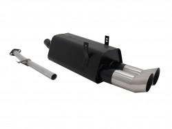 Stahl Endschalldämpfer mit 2x 90mm DTM-Look Endrohren passend für BMW 3er E36 316i und 318i