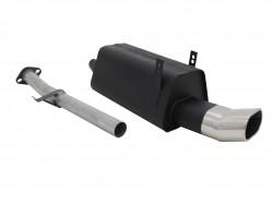 Stahl Endschalldämpfer mit oval Endrohr DTM-Look passend für BMW 3er E36 316i und 318i