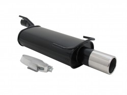 Steel rear muffler with 90mm tailpipe straight suitable for Opel Kadett E and Astra F