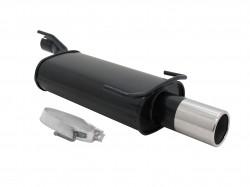 Endschalldämpfer, 1 x 90 mm, rund, mit ABE passend für Opel Kadett E/ Astra F 1.4-2.0