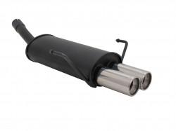 Endschalldämpfer, 2 x 76 mm, rund, gerade, mit ABE passend für Opel Astra H 1.4 16 V, 1.6 16V, 1.8 16V, 1.7 CDTi, 1.9 CDTi