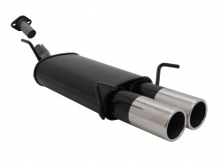 Endschalldämpfer, 2 x 90 mm, rund, gerade, mit ABE passend für Opel Astra G CC 1.4-2.0