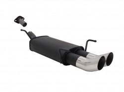 Endschalldämpfer, 2 x 76 mm, Tourin, mit ABE passend für Opel Astra G CC 1.4-2.0