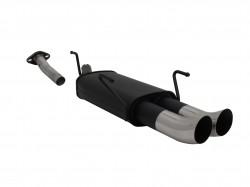 Endschalldämpfer, 2 x 76 mm, Tourin, mit ABE passend für Opel Astra G Kombi 1.4-2.0