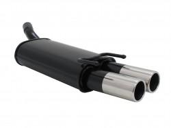Stahl Endschalldämpfer mit 2x 76mm Endrohren gerade passend für Opel Corsa B Bj. 03.93 - 09.00