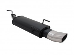 Steel rear muffler with 2x 76mm tailpipes DTM-Look suitable for Opel Vectra B (B/J96) year 10.95 - 99