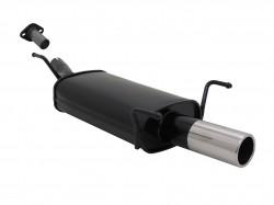 Endschalldämpfer, 1 x 76 mm, mit ABE passend für Opel Astra G Fließheck 1,2 / 1,4 / 1,6 / 1,8 / 1,7 Diesel, nicht bei 2,0-16V u. mit AHK Modelle