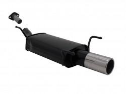 Endschalldämpfer, 1 x 90 mm, mit ABE passend für Opel Astra G Fließheck 1,2 / 1,4 / 1,6 / 1,8 / 1,7 Diesel, nicht bei 2,0-16V u. mit AHK Modelle