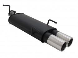Stahl Endschalldämpfer mit 2x 90mm Endrohren gerade passend für Opel Vectra B