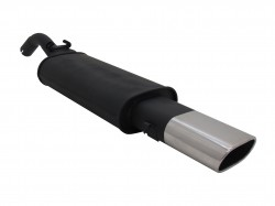 Muffler, VW Golf II 1,1 / 1,3 / 1,6 / 1,6D / 1,8 except 16V, G60, Syncro, 135 x 75 mm oval, EC approved