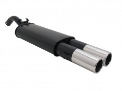 Muffler, VW Golf II 1,1 / 1,3 / 1,6 / 1,6D / 1,8 except 16V, G60, Syncro, 2 x 90 mm round, EC approved