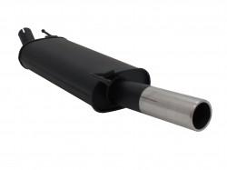 Endschalldämpfer, 1 x 76 mm, mit ABE passend für VW Golf III / Cabrio 1,4*/ 1,6*/ 1,6 GT/ 1,8*/ 1,8/ 1,9D*/1,9 TDI/ 2,0 nicht für Syncro, (*S Rohr wird benötigt)