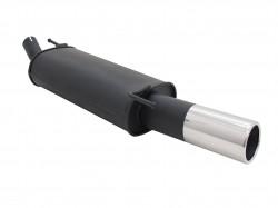 Endschalldämpfer, 1 x 90 mm, mit ABE passend für VW Golf III / Cabrio 1,4*/ 1,6*/ 1,6 GT/ 1,8*/ 1,8/ 1,9D*/1,9 TDI/ 2,0 nicht für Syncro, (*S Rohr wird benötigt)